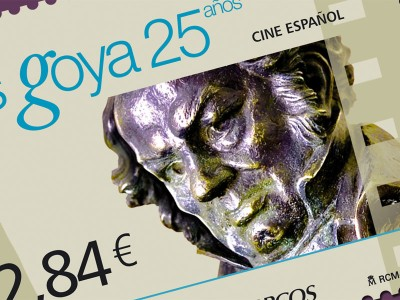 """Hoja Bloque """"25 Aniversario de los Premios Goya"""""""