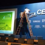 Montaje escenografía para Congreso de Empresarios de Confederación de Empresarios de Andalucía, CEA en Sevilla