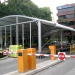 Montaje Espacio efímero exterior en instalaciones de Endesa Sevilla para Acto de Presentación de TELEGESTIÖN